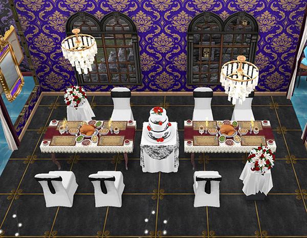ゴーストハウス:微妙に毒々しい会食の間(The Sims フリープレイ)
