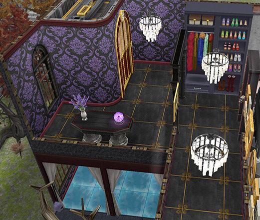 ゴーストハウス:エレベーターホールと廊下(The Sims フリープレイ)
