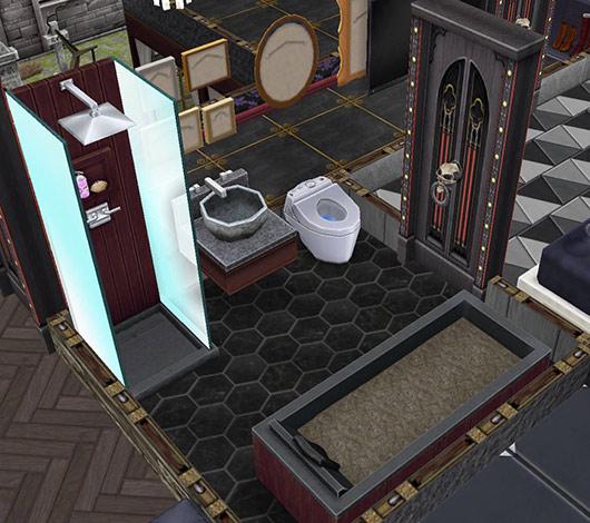ゴーストハウス:泥風呂のバスルーム(The Sims フリープレイ)