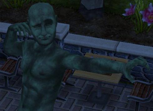 どや顔でポーズを決める考える像(The Sims フリープレイ)