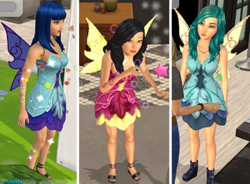 フェアリー姿のシムたち(The Sims シムズ ポケット)