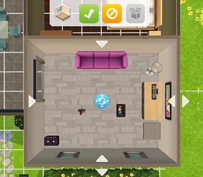 部屋の回転と移動(The Sims シムズ ポケット)
