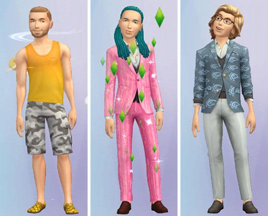 ノア君の着せ替え。スーツ、ブレザー、タンクトップ(The Sims シムズ ポケット)