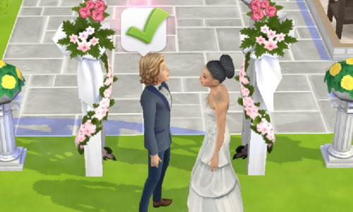 結婚式(The Sims シムズポケット)